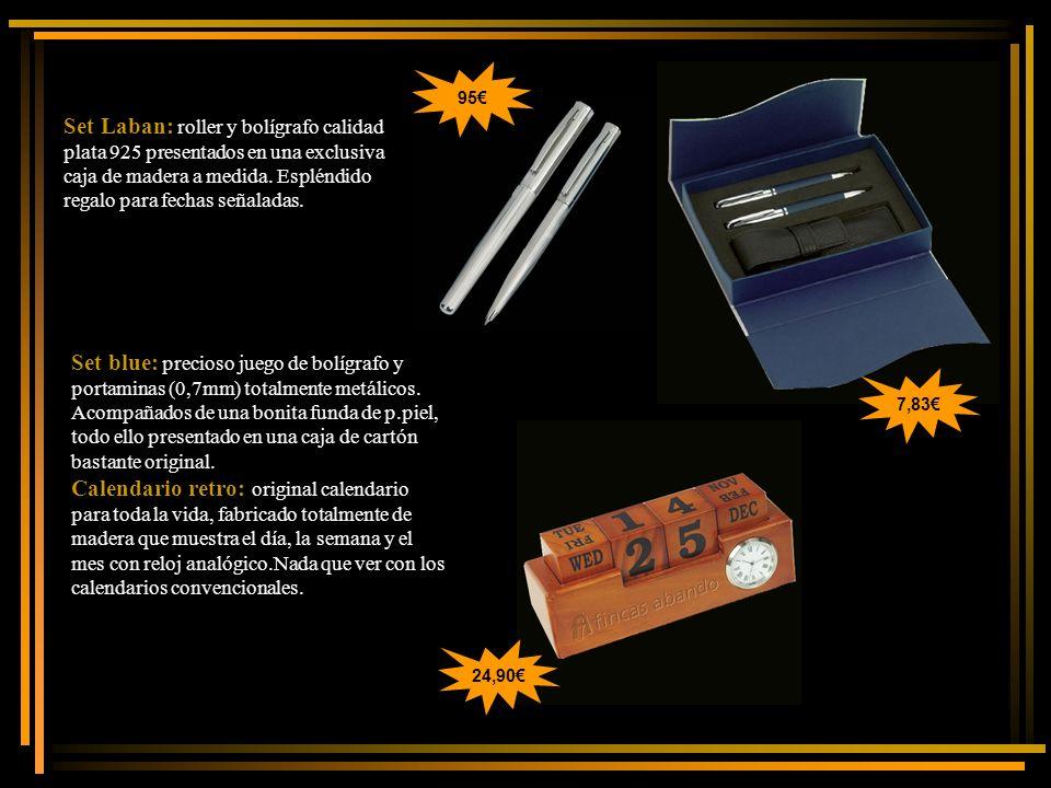 Set Laban: roller y bolígrafo calidad plata 925 presentados en una exclusiva caja de madera a medida.