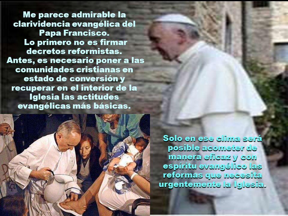 Algunos sectores de la Iglesia piden al Papa que acometa cuanto antes diferentes reformas que consideran urgentes. Sin embargo, Francisco ha manifesta
