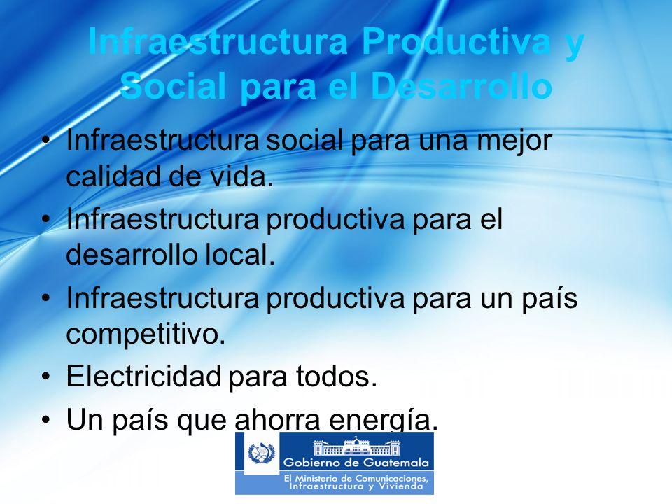 Infraestructura Productiva y Social para el Desarrollo Infraestructura social para una mejor calidad de vida.