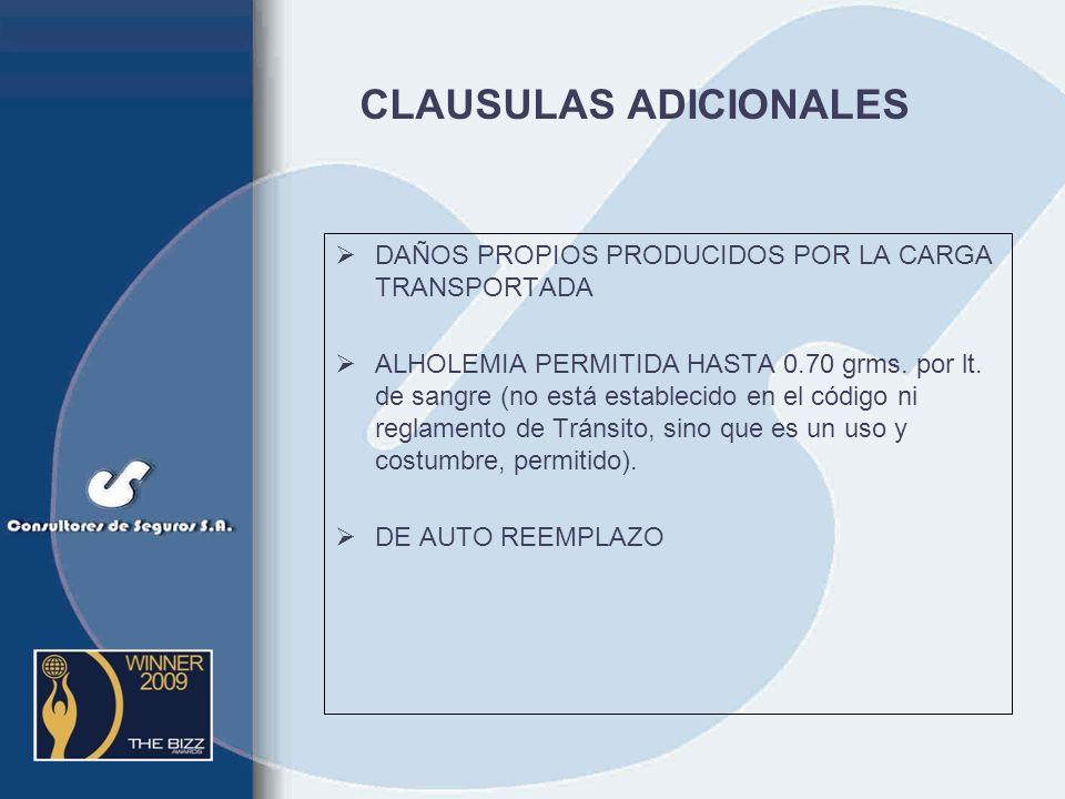 Automotores (Cláusulas Adicionales) DE AUXILIO MECÁNICO HASTA 75 Km. DE LA PLAZA PRINCIPAL DE CADA CIUDAD CAPITAL DE ASISTENCIA AL VEHÍCULO Y A LOS OC