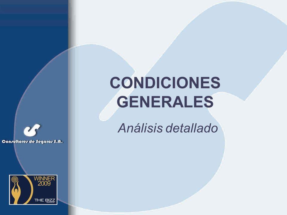 CONDICIONES GENERALES Análisis detallado