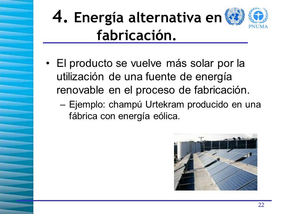 22 4.Energía alternativa en fabricación.