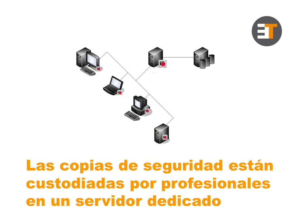 Las copias de seguridad están custodiadas por profesionales en un servidor dedicado