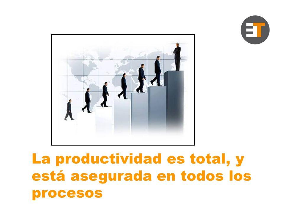 La productividad es total, y está asegurada en todos los procesos