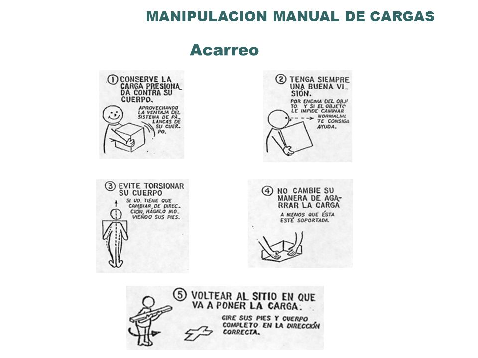 MANIPULACION MANUAL DE CARGAS Acarreo