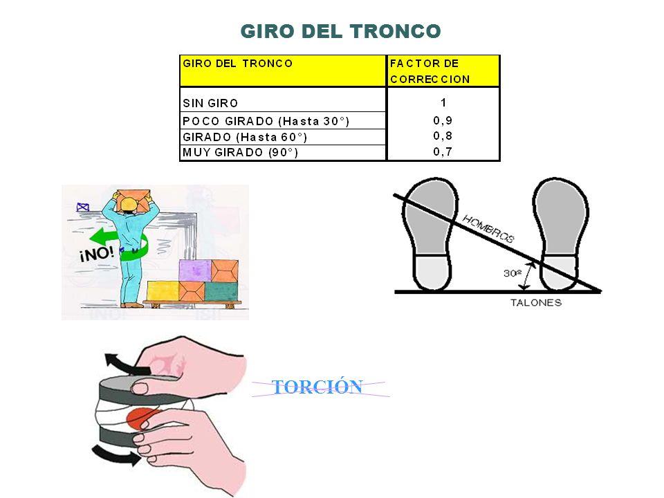 TORCIÓN GIRO DEL TRONCO