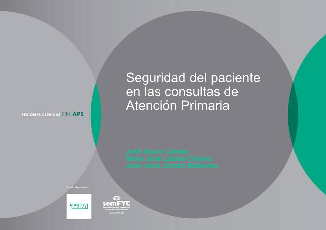 Seguridad del paciente en las consultas de Atención Primaria José Saura Llamas María José Lázaro Gómez Juan José Jurado Balbuena