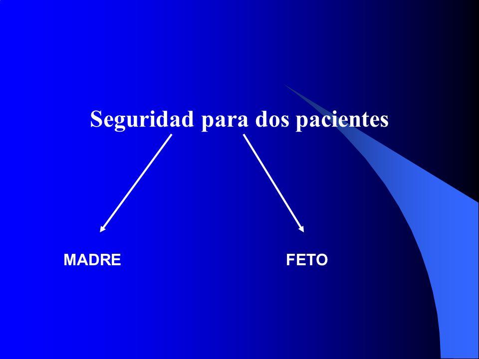 SEGURIDAD FETAL EFECTOS DE LA ANESTESIA SOBRE EL FETO 1.