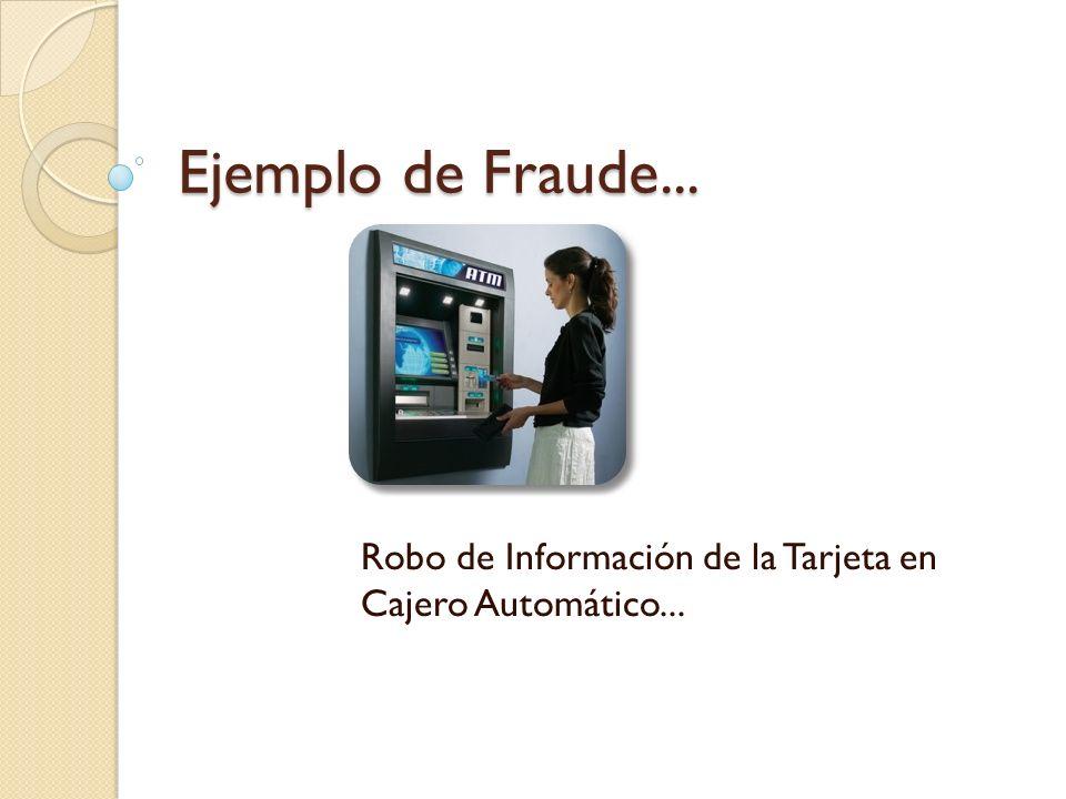 Ejemplo de Fraude... Robo de Información de la Tarjeta en Cajero Automático...