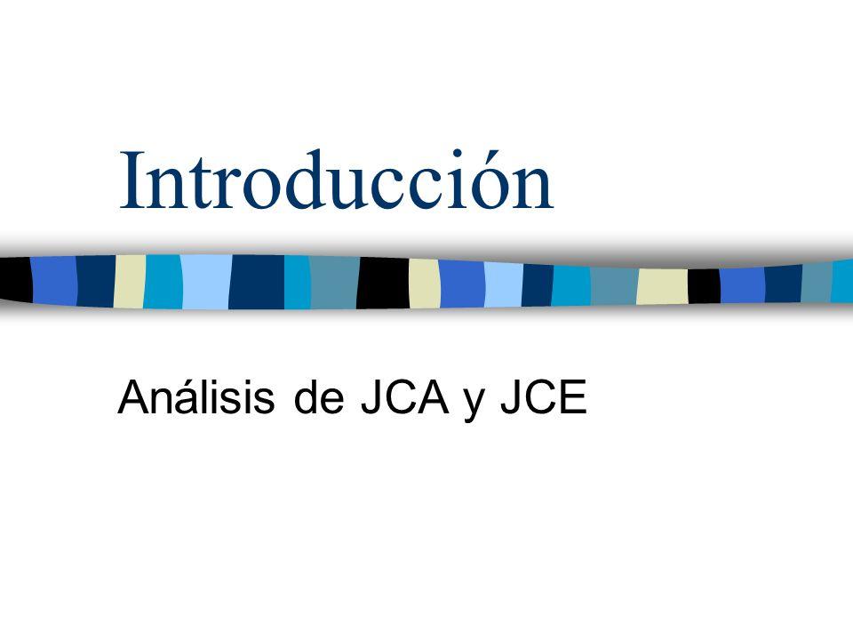 Introducción Análisis de JCA y JCE