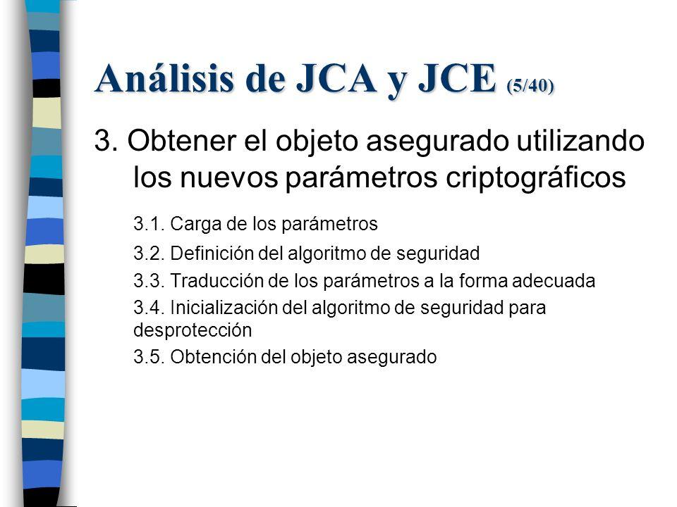 Análisis de JCA y JCE (5/40) 3.