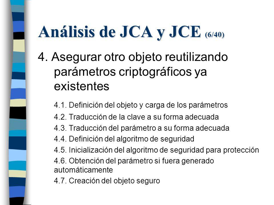 Análisis de JCA y JCE (6/40) 4.