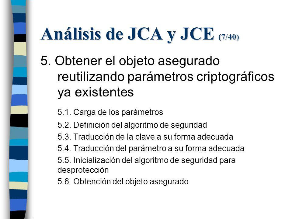 Análisis de JCA y JCE (7/40) 5.