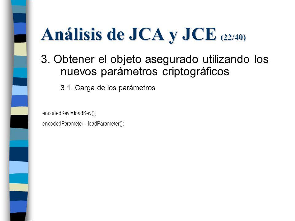 Análisis de JCA y JCE (22/40) 3.