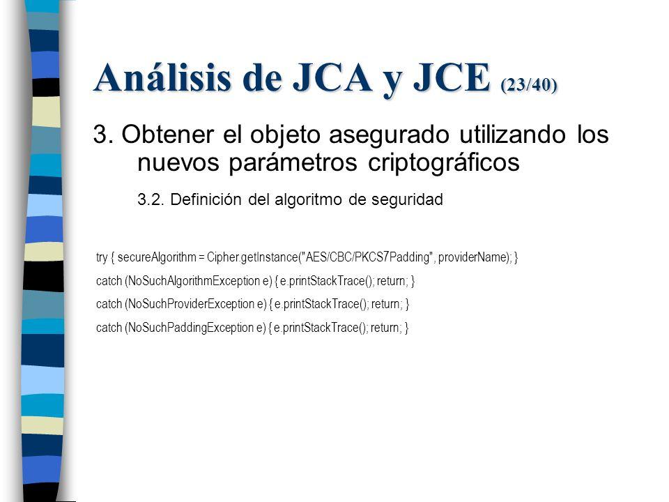 Análisis de JCA y JCE (23/40) 3.