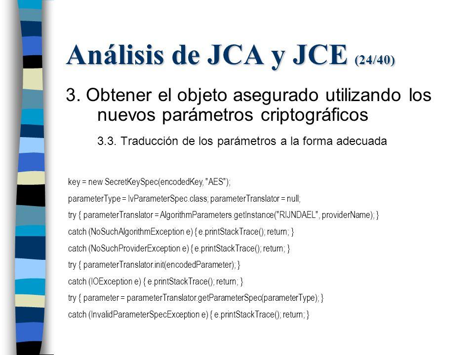 Análisis de JCA y JCE (24/40) 3.