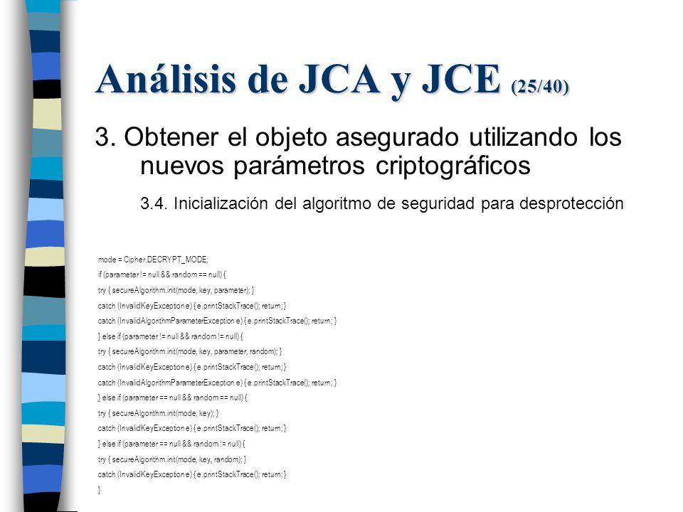 Análisis de JCA y JCE (25/40) 3.