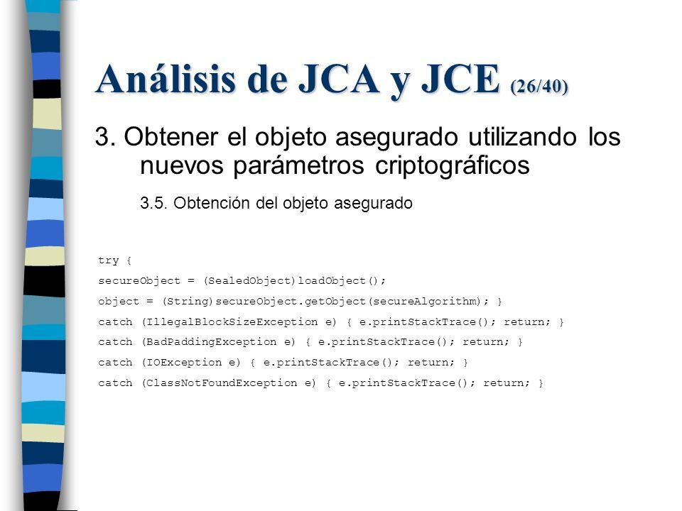 Análisis de JCA y JCE (26/40) 3.