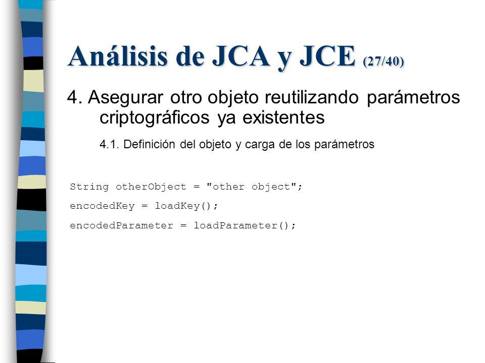 Análisis de JCA y JCE (27/40) 4.
