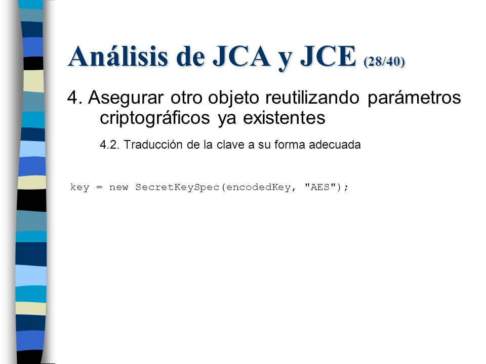 Análisis de JCA y JCE (28/40) 4.
