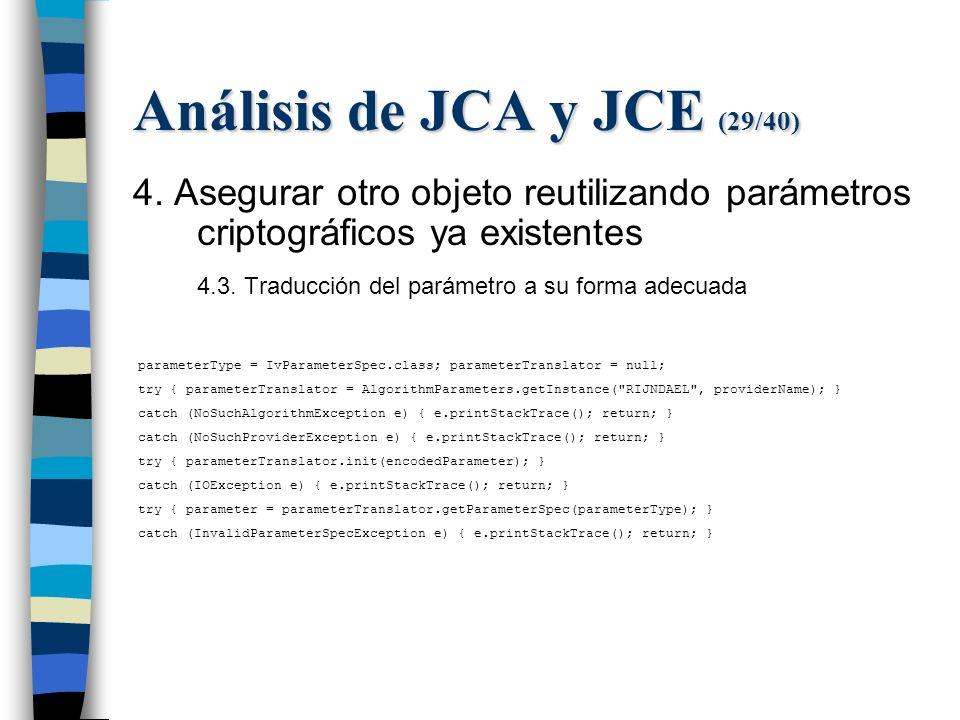 Análisis de JCA y JCE (29/40) 4.