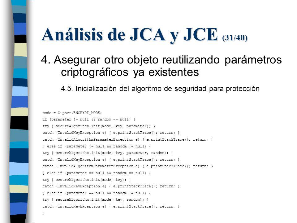 Análisis de JCA y JCE (31/40) 4.