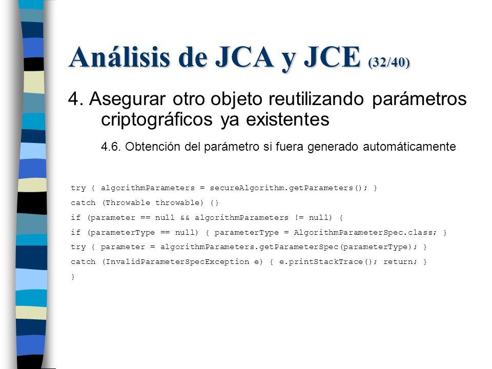Análisis de JCA y JCE (32/40) 4.