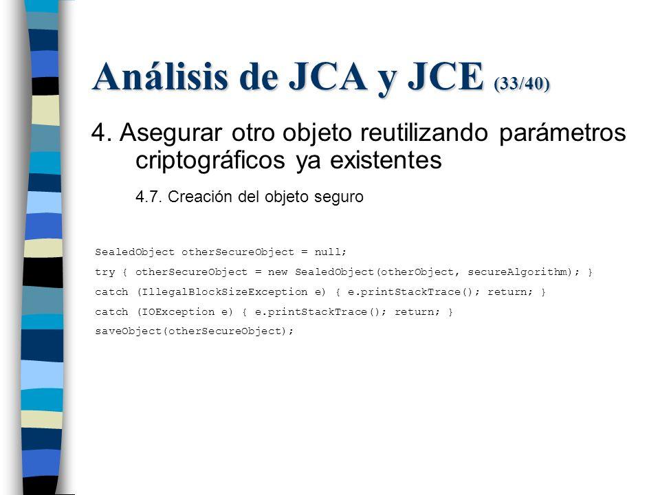 Análisis de JCA y JCE (33/40) 4.