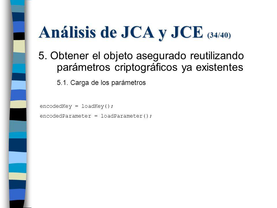Análisis de JCA y JCE (34/40) 5.