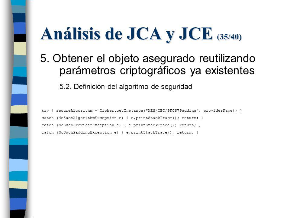Análisis de JCA y JCE (35/40) 5.