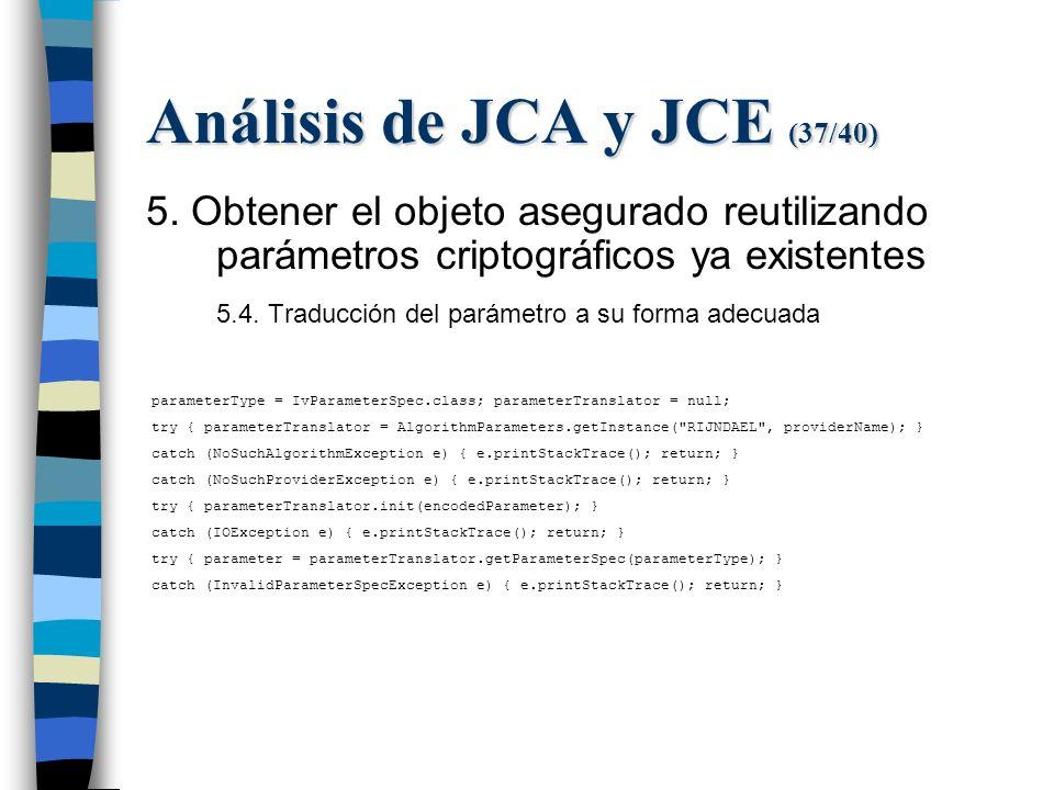 Análisis de JCA y JCE (37/40) 5.