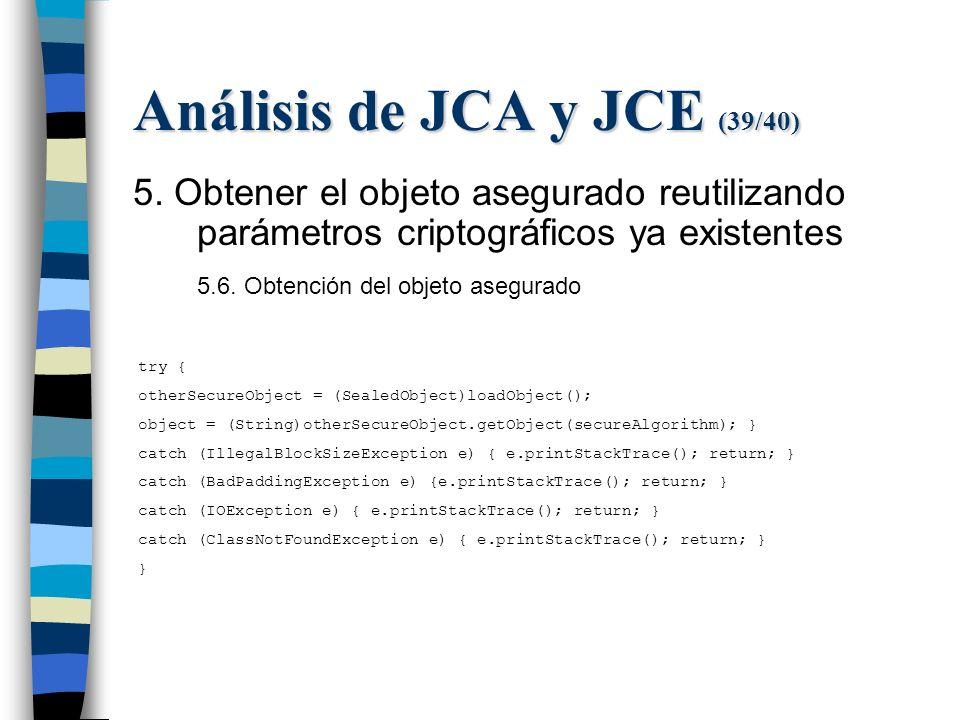 Análisis de JCA y JCE (39/40) 5.