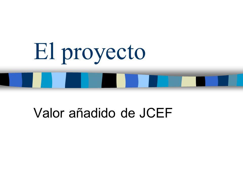 El proyecto Valor añadido de JCEF