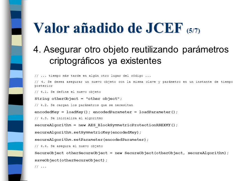 Valor añadido de JCEF (5/7) 4.