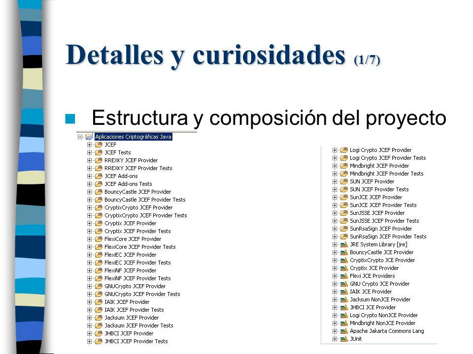 Detalles y curiosidades (1/7) Estructura y composición del proyecto