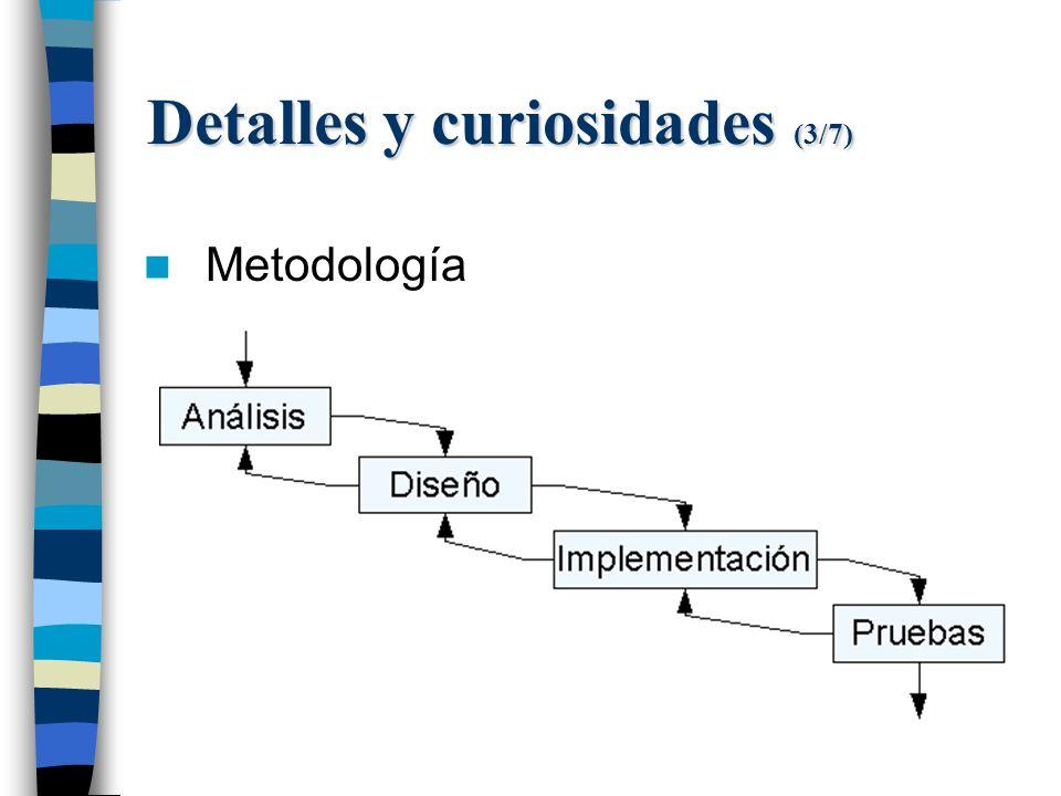 Detalles y curiosidades (3/7) Metodología