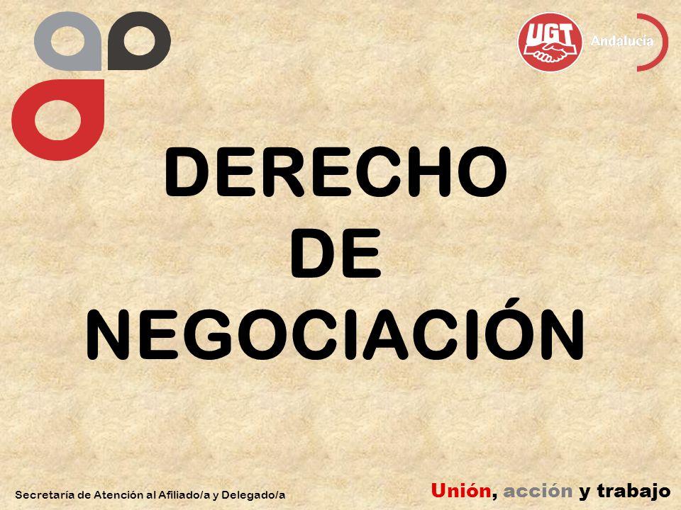 DERECHO DE NEGOCIACIÓN Secretaría de Atención al Afiliado/a y Delegado/a Unión, acción y trabajo