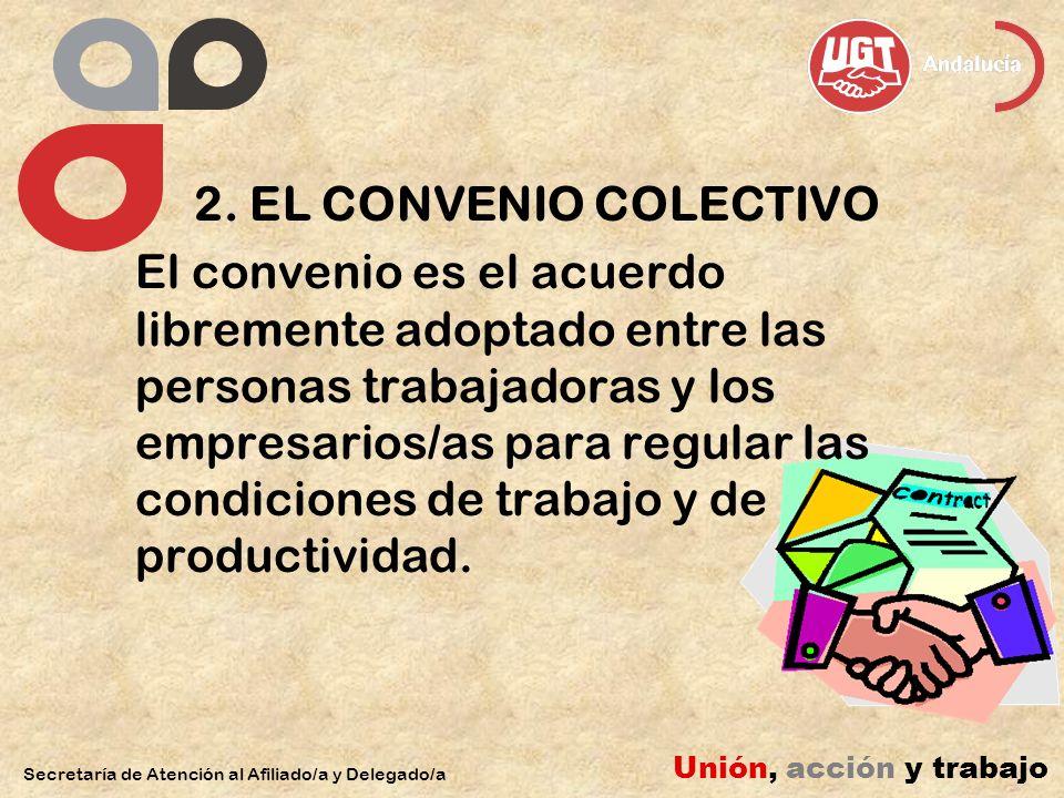 2. EL CONVENIO COLECTIVO El convenio es el acuerdo libremente adoptado entre las personas trabajadoras y los empresarios/as para regular las condicion