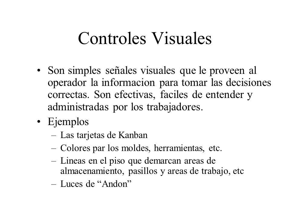 Son simples señales visuales que le proveen al operador la informacion para tomar las decisiones correctas. Son efectivas, faciles de entender y admin