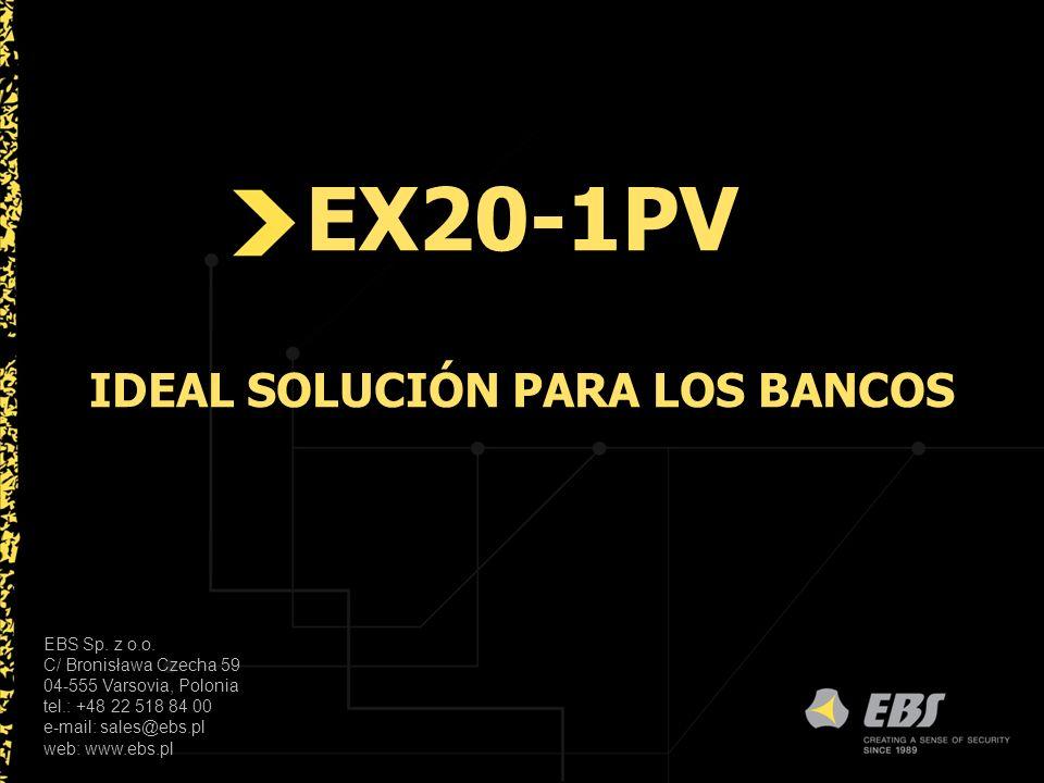 EX20-1PV IDEAL SOLUCIÓN PARA LOS BANCOS EBS Sp. z o.o.