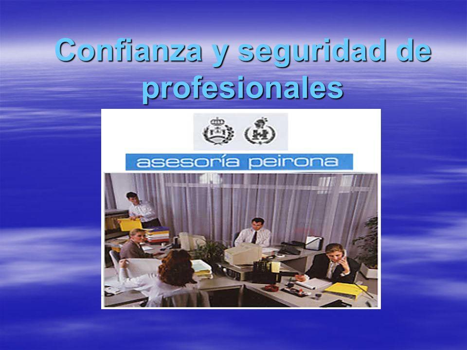 Confianza y seguridad de profesionales