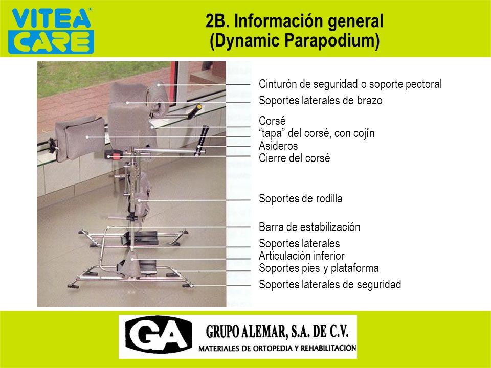 2A. Principios generales de seguridad Principios de funcionamiento. Manejado por las partes no afectadas del cuerpo, es decir, la parte superior del t