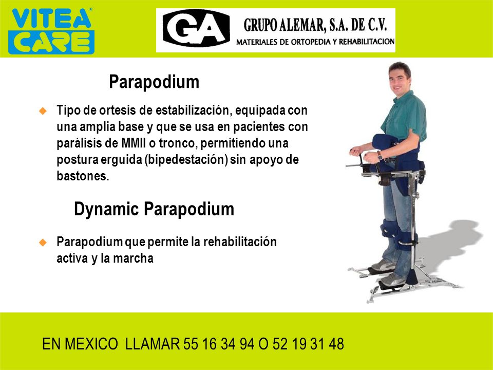 Dynamic Parapodium enjoy movement, enjoy life EN MEXICO D.F. LLAMAR 55 16 34 94 O 52 19 31 48