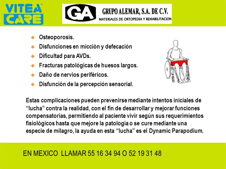 1B. Disfunciones en órganos internos en discapacitados, debidas a sedestación permanente o encamamiento La limitación física evidente, derivada del en