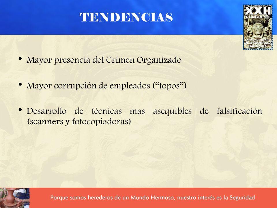 TENDENCIAS Más oportunidades debidas al aumento de errores operacionales Los defraudadores ahora se defienden en las cortes Defensas legales inadecuad