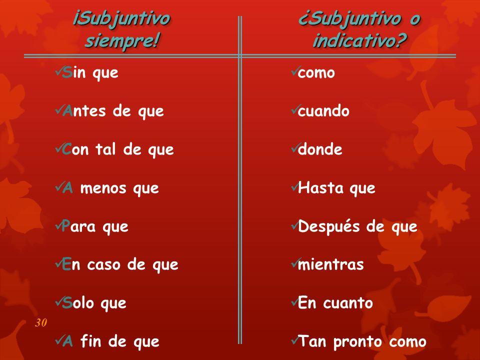 29 Adverb Clauses (Las Cláusulas Adverbiales)