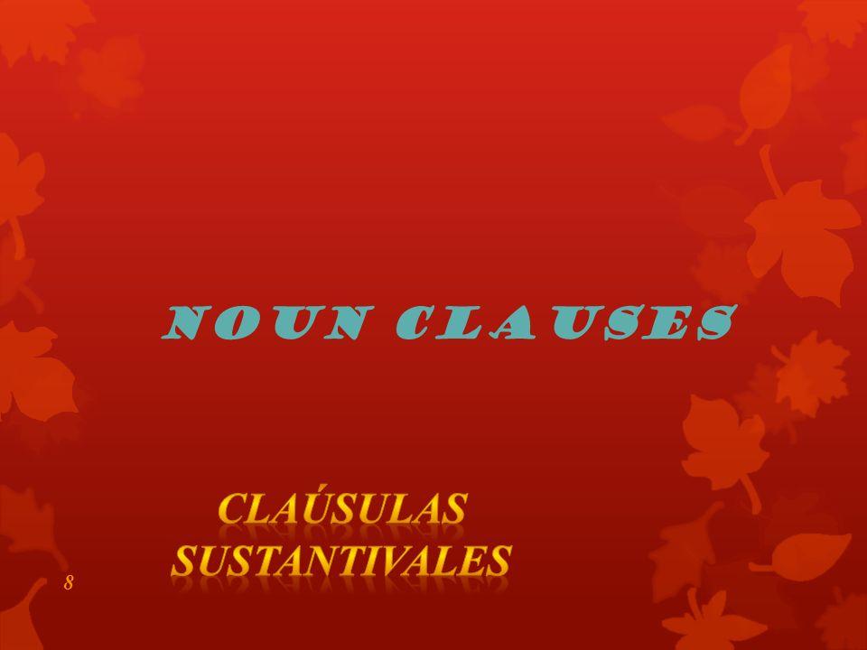 8 Noun Clauses