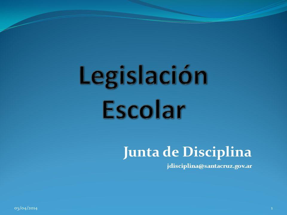 Junta de Disciplina jdisciplina@santacruz.gov.ar 05/04/20141