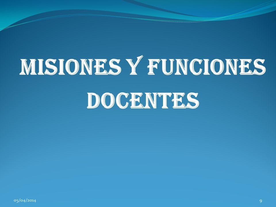 Misiones y Funciones Docentes 05/04/20149