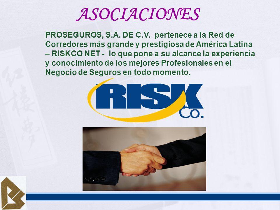 PROSEGUROS, S.A. DE C.V. pertenece a la Red de Corredores más grande y prestigiosa de América Latina – RISKCO NET - lo que pone a su alcance la experi